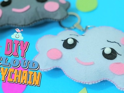 Easy DIY Crafts. How to make cute Cloud Keychain in 3 minute. SEW or NO SEW (FUNKARIYAN)