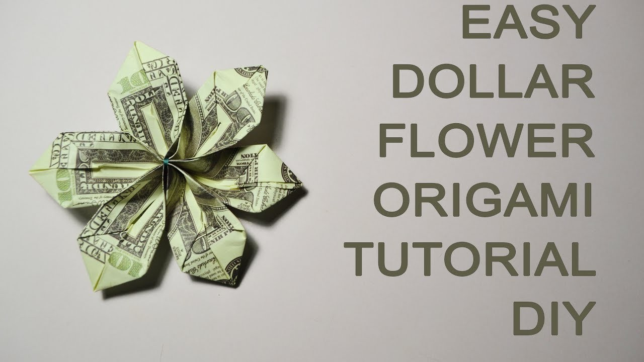 How To Make A Origami Flower With Money
