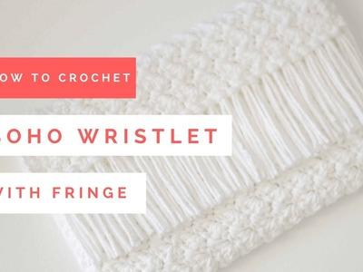 How to Crochet a Boho Wristlet with Fringe