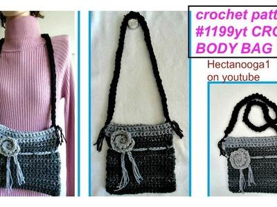 HOW TO CROCHET A CROSS-BODY BAG, free crochet pattern