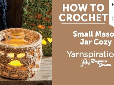 How to Crochet a Jar Cozy: Small Mason Jar Cozy