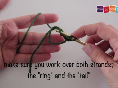 How to crochet a magic ring with double crochet #30