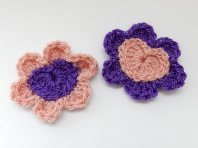 How to Crochet my Heart Flower