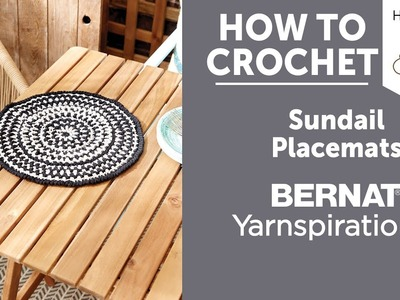 How to Crochet Placemats: Crochet Sundial Placemat