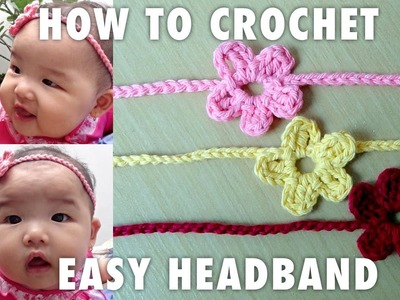 How To Crochet Simple Headband For Babies