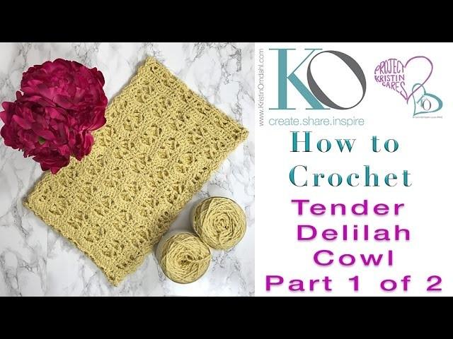 How to Crochet Tender Delilah Cowl Part 1 of 2 SLOWER for Beginners