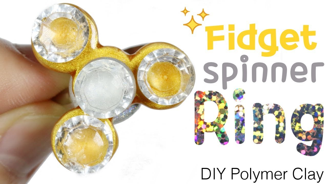 How to DIY Fidget Spinner Ring Polymer Clay Tutorial