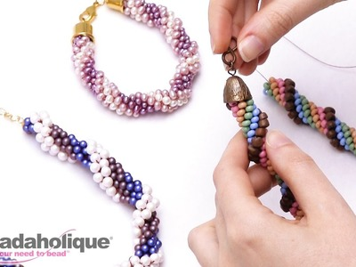 How to Finish Beaded Crochet Rope Ends and Attach a Clasp