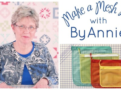 How to Make a Mesh Zipper Bag with ByAnnie and Fat Quarter Shop