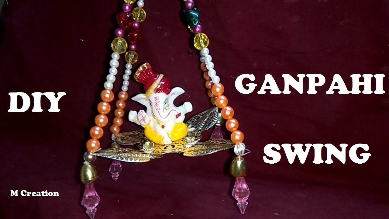 How to make ganpathi swing jhula my crafts and diy projects for How to make jhula at home
