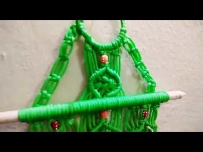 How to make Macrame key stand  design  2.  Wall piece. Easy and simple DIY tutorial.
