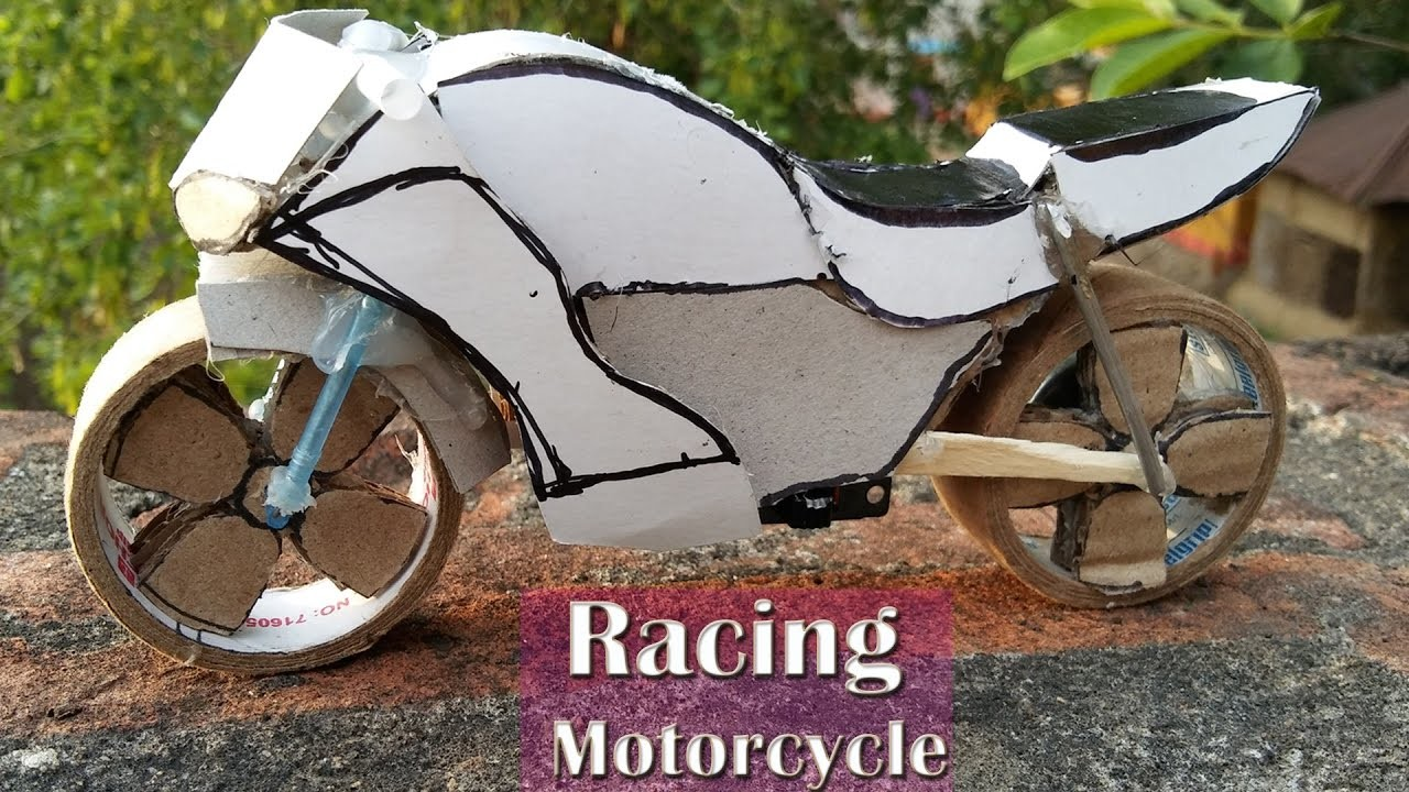 motorcycle craft ideas how to make mini electric racing motorcycle 2513