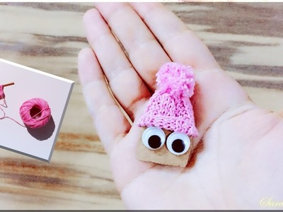 How to make miniature knitting hat
