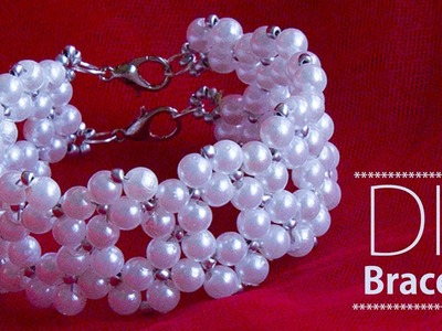 How to make pearl bracelet | DIY Bracelets | pearl bridal jewellery making