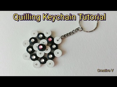 How to Make Quilling KeyChain. Tutorial. Design 5