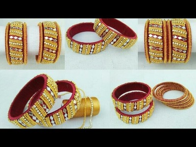 How To Make Silk Thread Bangles . DIY. How To Make Designer Silk Thread Bangles. Latest