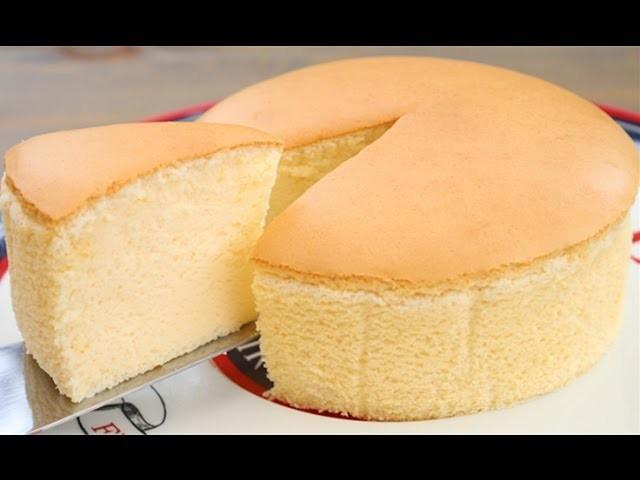 Recipe For Japanese Jiggly Cake: How To Make Soft Cheese Sponge Cake 古早味芝士蛋糕 (烫面法