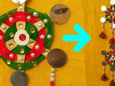 How To Make Wall Hanging    DIY Wall Hanging From Woolen Thread and Ice Cream Sticks