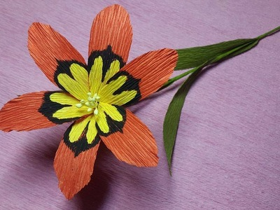 How to Make Wandflower Paper flowers - Flower Making of Crepe Paper - Paper Flower Tutorial