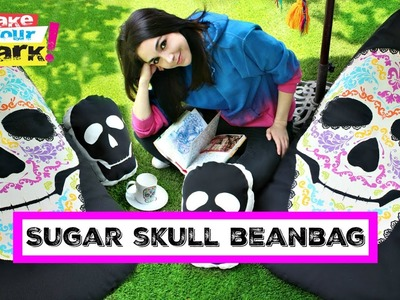 How to: Sugar Skull Beanbag Chair and Skull Pillow