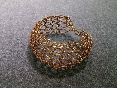 Knit wire bangle - How to make wire jewelery 246