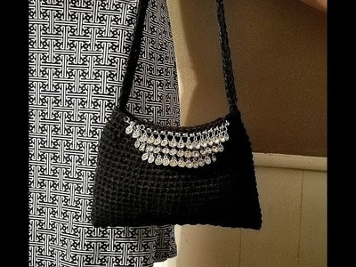 """Learn How To #Crochet """"The Little Black Bag"""" Purse TUTORIAL #387 SOUFEEL JEWELRY REVIEW"""