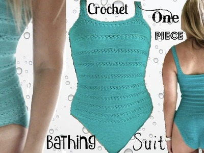 One Piece Crochet Bathing Suit