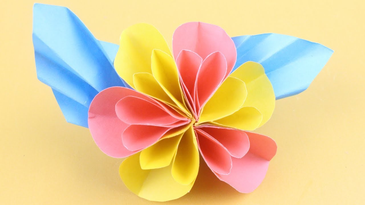 how to make paper flowers origami