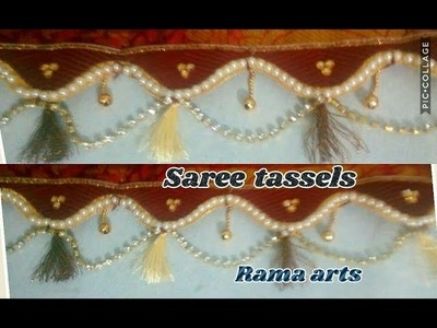 Pattu saree tassels. saree kuchu - How to make saree tassels