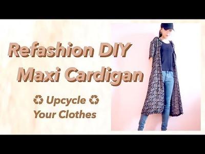 Refashion DIY Maxi Cardiganㅣmadebyaya