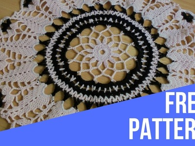 Round doily-how to crochet. Pattern.how to crochet doily.crochet tutorial.crochet diy