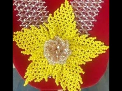 The tutorial on how to make this beautiful yellow  bead brooch