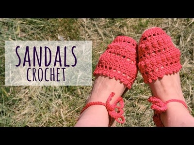 Tutorial Easy Crochet Sandals Woman