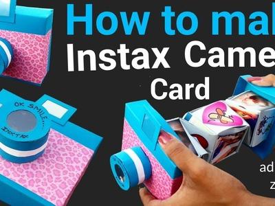 Unique Instax Card Tutorial   DIY Handmade mini Scrapbook   Friendship day card ideas  