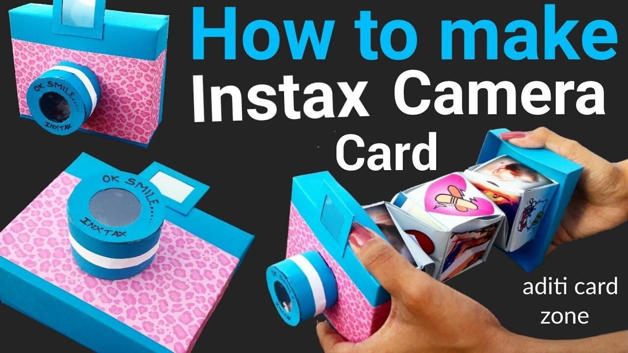 Unique Instax Card Tutorial Diy Handmade Mini Scrapbook
