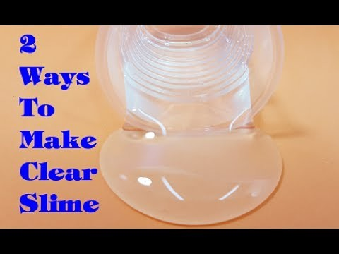 2 ways to make clear slime how to make clear slime easy. Black Bedroom Furniture Sets. Home Design Ideas