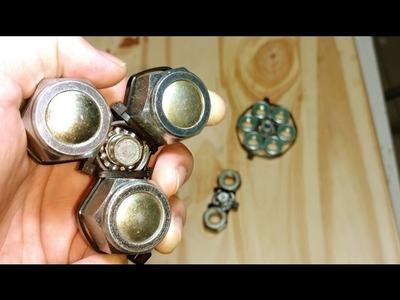 3 Fidget Spinner Barato, sencillo y casero - como hacer. how to make