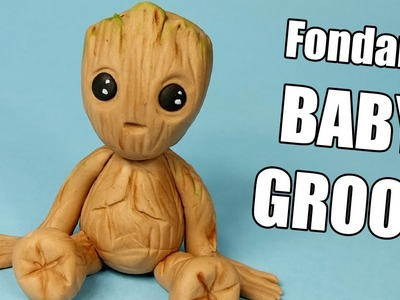 BABY GROOT! How To Make Fondant BABY GROOT Guardians Of The Galaxy. Baby Groot cake topper tutorial