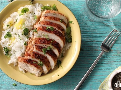 Chicken Recipes - How to Make Caribbean Chicken with Pineapple Cilantro Rice