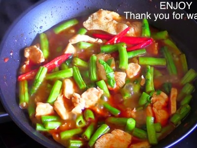 Chicken with Chili Curry : Thai Food Part 39 : How to Make Thai Food at Home