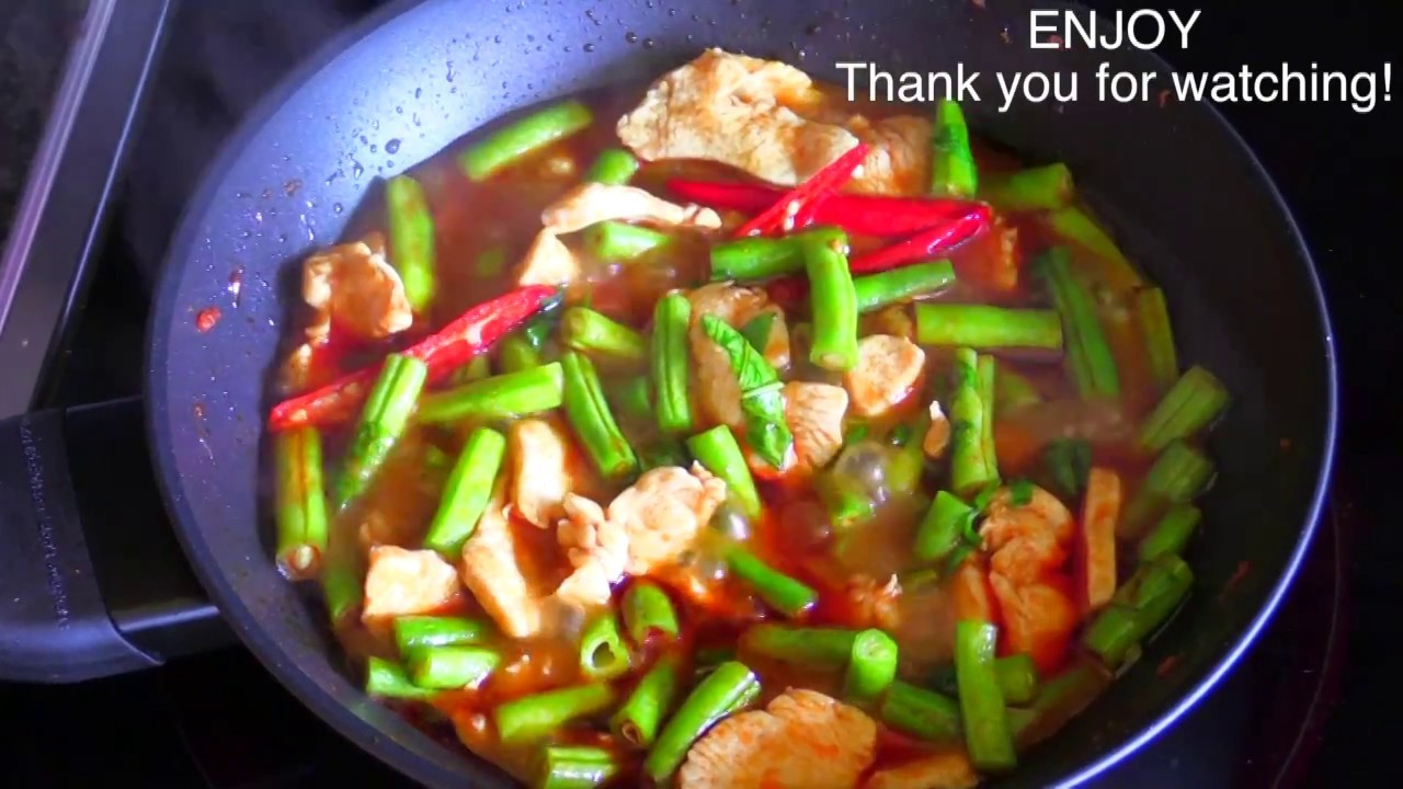 Chicken with chili curry thai food part 39 how to make for At home thai cuisine