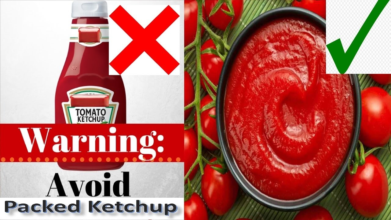 Danger to Buy Tomato Ketchup || How to Make Tomato Ketchup Sauce at Home