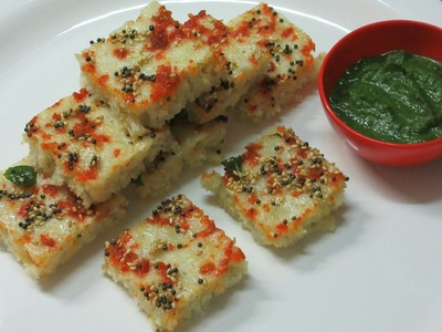 Dhokla recipe - Instant Rava and Oats Dhokla recipe - How to make Sooji Dhokla - Semolina Dhokla