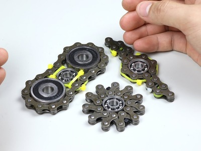 DIY 3 Style Spinners Fidget Chain - How to Make