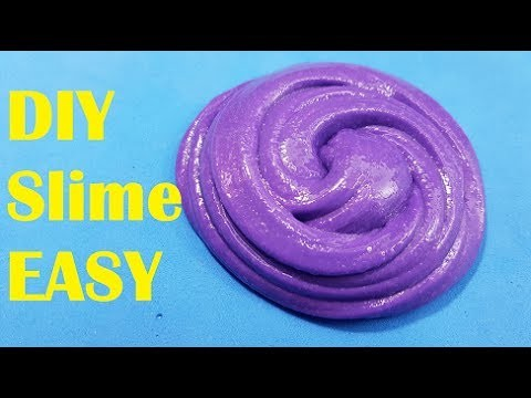 DIY Slime!! How to make slime with Shampoo Baby and Nail Polish No Glue or Borax