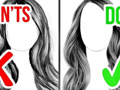 DO'S & DON'TS: How to Draw Realistic Hair | Step by Step Drawing Tutorial
