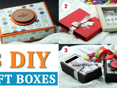 Gift Box: How to Make Gift Box with Paper | Handmade Paper Gift Box Ideas