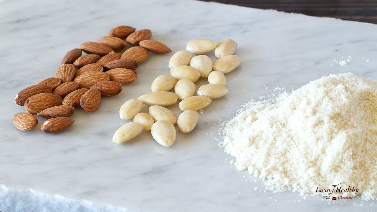 How to blanch almonds and make almond flour, My Crafts and DIY ...