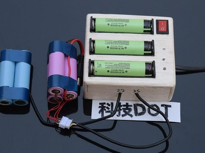 How to make 2S 3S Balanced Battery Charger at home DIY实用18650串联12V平衡充电器
