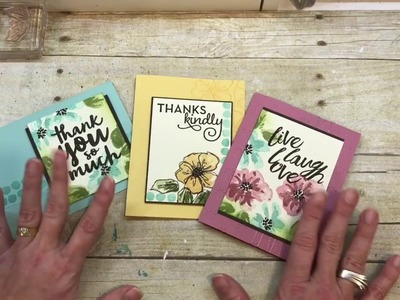 How to make 3 lovely All Occasion Floral Cards
